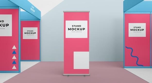 Stand aziendale e mock-up di stand