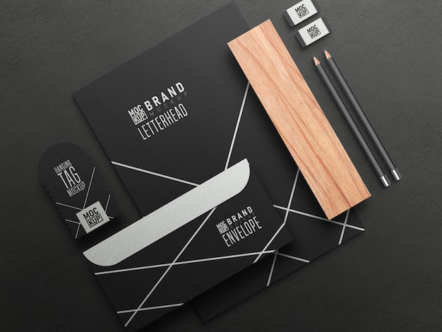 Business stationary set mockup