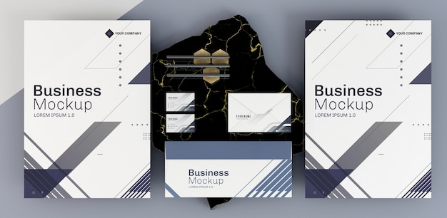 Business stationery mock-up arrangement