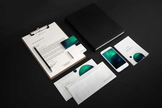 Business stationery mock up design Premium Psd