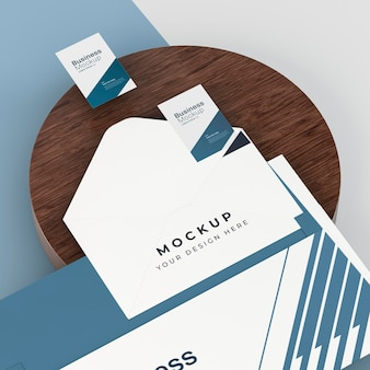 Business stationery mock-up with envelope