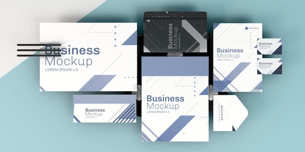 Business stationery mock-up