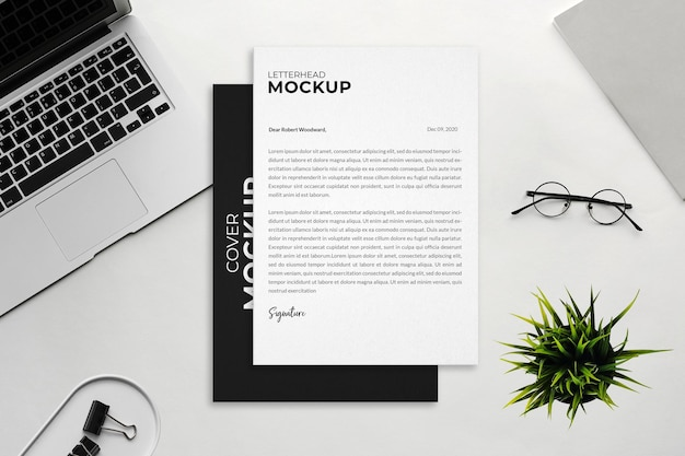 Business stationery mockup design