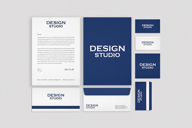 Business stationery set mockup design
