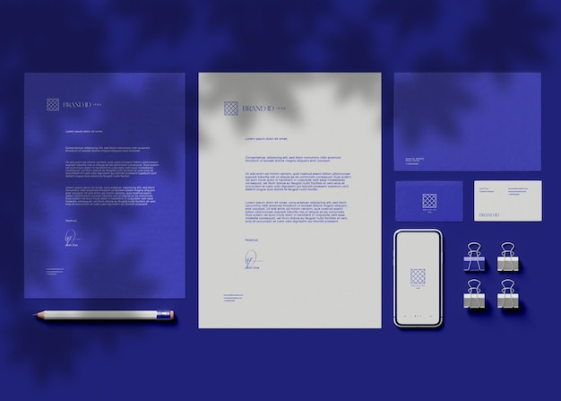 Business stationery set mockup
