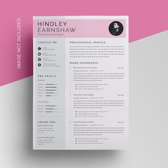 Business topbar resume template