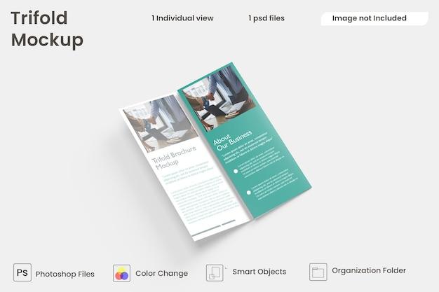 Business trifold brochure design premium psd