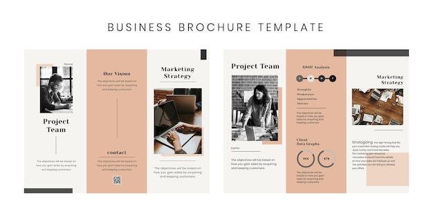 Редактируемые шаблоны psd бизнес-брошюры trifold