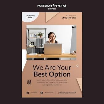 Business vertical print template