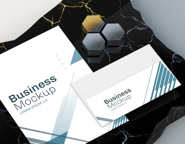 Business visiting card mock-up and poster