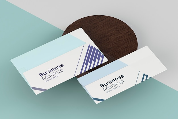 Business visiting card mock-up