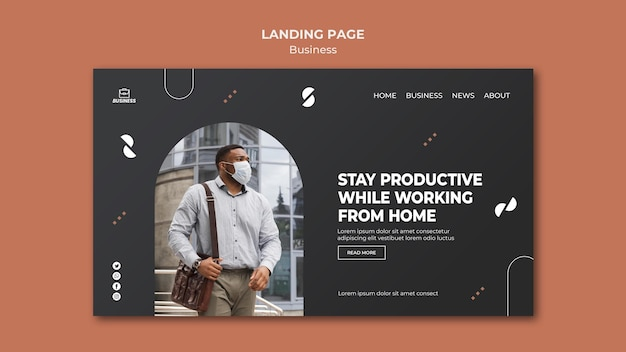 Business web template with photo