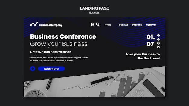 Шаблон целевой страницы бизнес-вебинара Бесплатные Psd