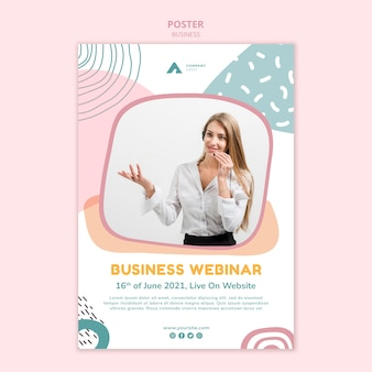Шаблон плаката бизнес-вебинара