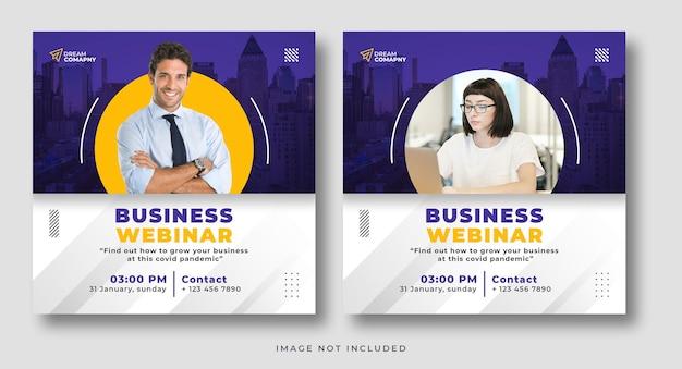Business webinar social media instagram post