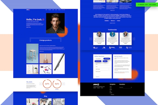 Business website page design