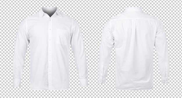Business or white blue shirt, front and back view mock-up template for your design.