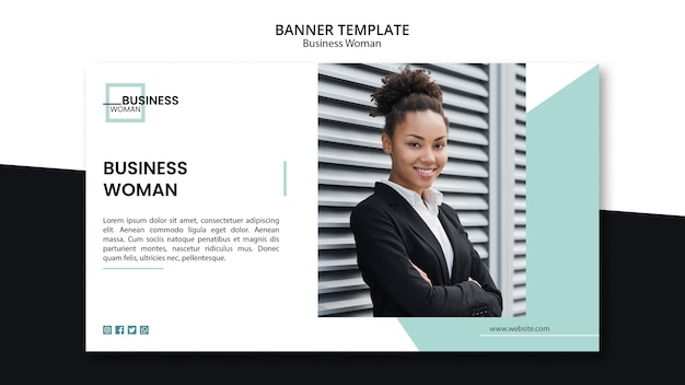 Концепция бизнес-леди для шаблона