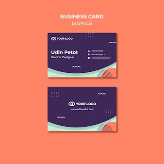 Business workshop concept business card