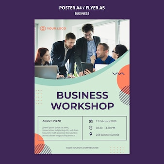 Business workshop concept poster
