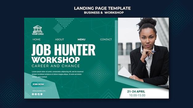 Business & workshop landing page theme