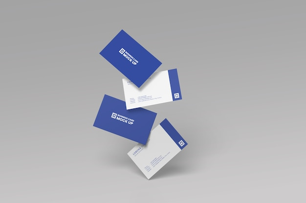 ビジネスカードのモックアップ