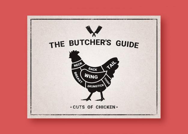 鶏肉のカットのための肉屋ガイド