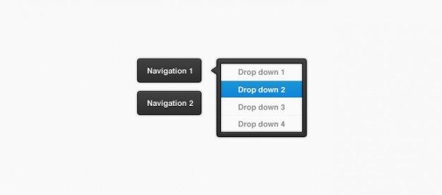 Button buttons dark dropdown