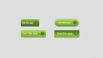 Button buttons grid ios photoshop styles ui