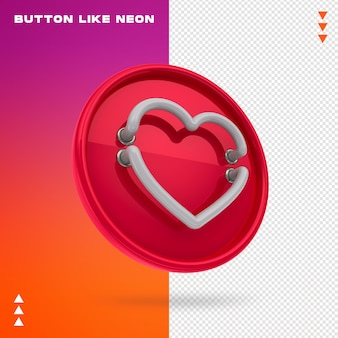 Button like neon