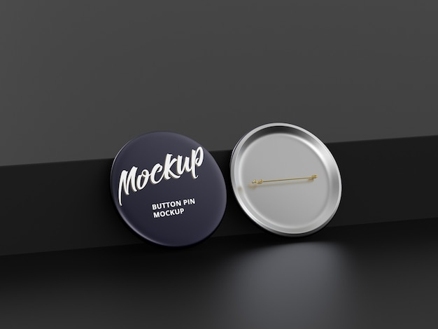 Button pin mockup