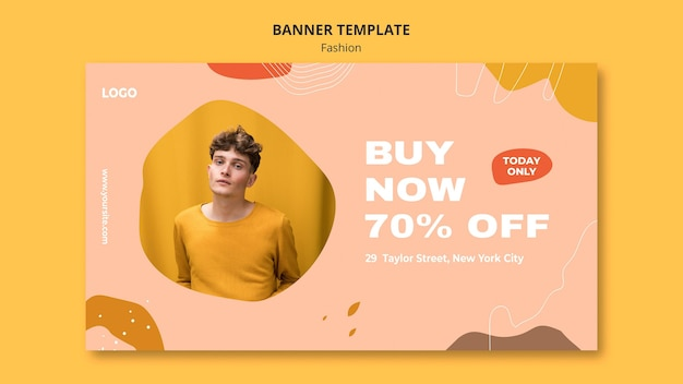 Buy now male fashion banner template