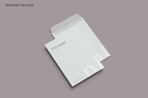 Мокап конверта c4