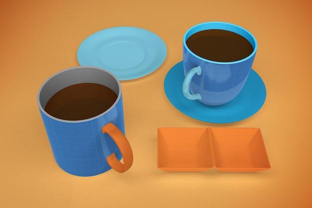 Мокап кафе