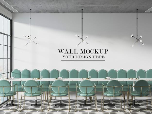 카페 또는 뷔페 벽 배경