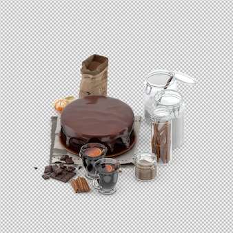 Cake 3d isolated render
