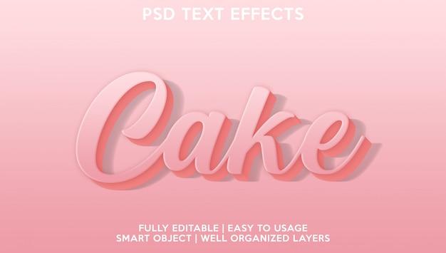 Текстовый эффект торта