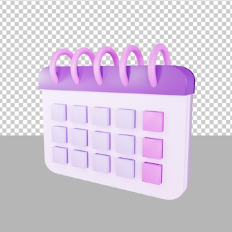 Календарь 3d иллюстрация бизнес