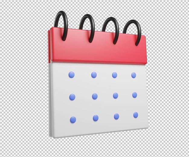 カレンダー3dイラスト