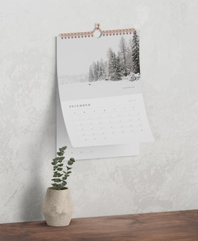 Calendar concept as book spiral link