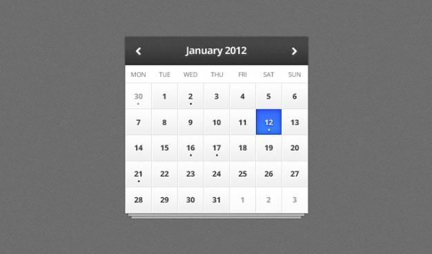 Calendario contrasto buio la luce data mese texture ui ux