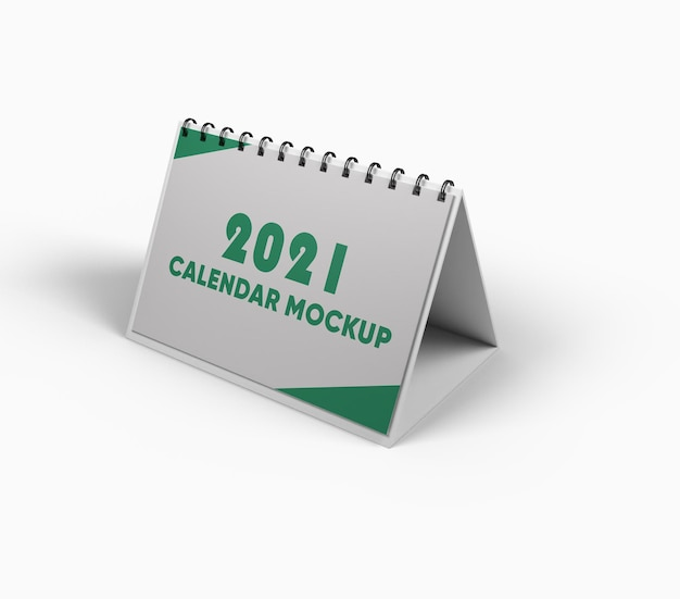 Calendar mockup design isolated