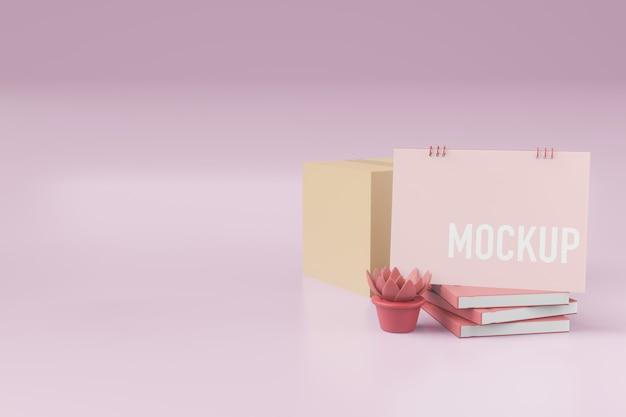 Calendar mockup Premium Psd