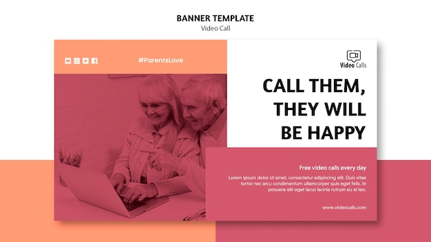 Call them video call banner template