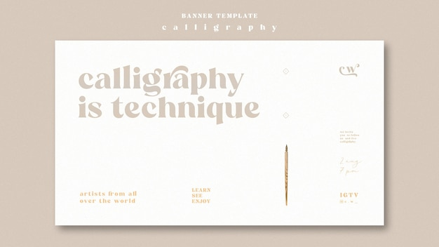 Calligraphy banner template