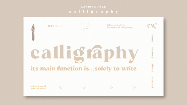 Calligraphy landing page theme