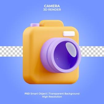 Изолированная иллюстрация камеры 3d рендеринга премиум psd