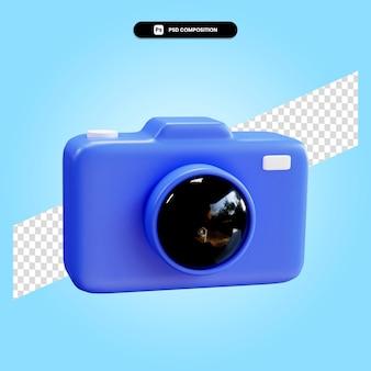 分離されたカメラ3dレンダリングイラスト