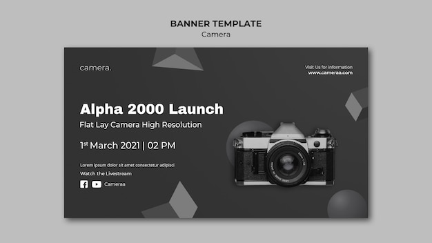 Camera banner template
