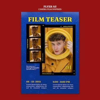 カメラフィルムにインスパイアされたポスター